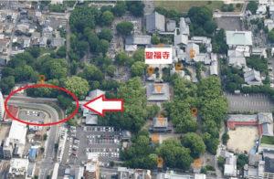 聖福寺の側道