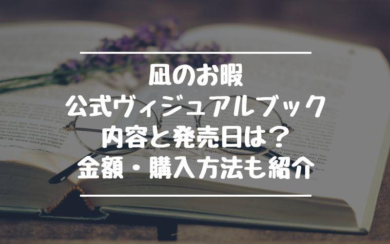 凪のお暇公式ヴィジュアルブックの内容は?発売日や金額・購入方法も