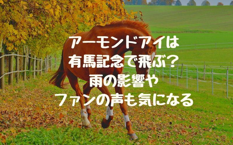 アーモンドアイは有馬記念で飛ぶ?雨の影響やファンの声も気になる