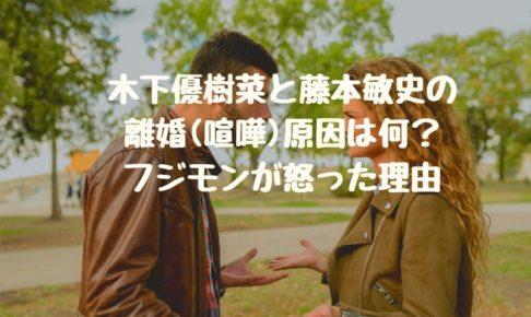 木下優樹菜と藤本敏史の離婚(喧嘩)原因は何?フジモンが怒った理由