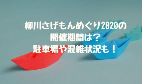 柳川さげもんめぐり2020の開催期間は?駐車場や混雑状況も!